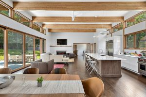 Contemporary custom home interior by Nordic Construction