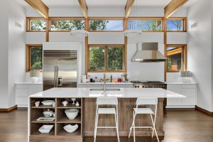Contemporary kitchen in custom home in Westchester County NY