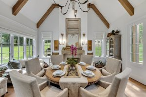 Dining Area in French Country Home by Nordic Construction