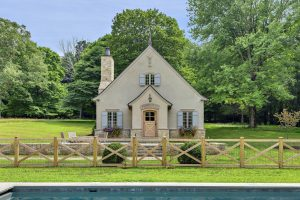 French Country Pool House by Nordic Construction (front)