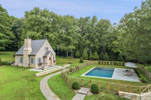 French Country Pool House by Nordic Construction in Pound Ridge NY