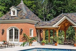 Grand French Chateau pool house by Nordic Construction