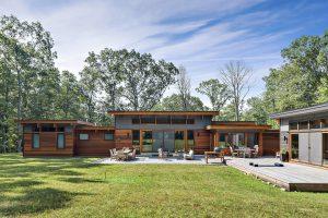 Indoor outdoor living of custom home in Westchester County NY