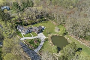 Pound Ridge NY home by Nordic Construction aerial view