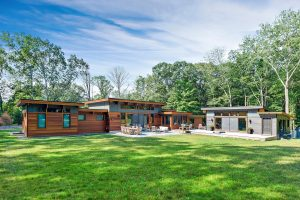 Rear of custom home in Westchester County NY by Nordic Construction