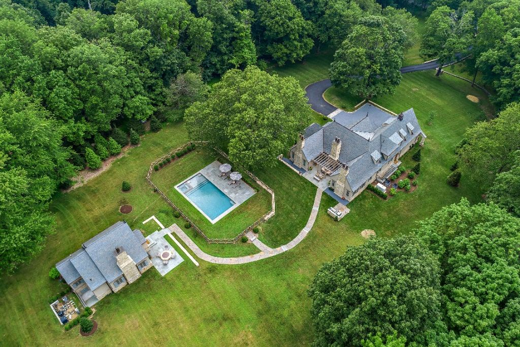 Custom home and pool house by Westchester County NY builder Nordic Construction